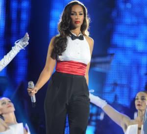 Leona Lewis au concert hommage à Michael Jackson en Angleterre.