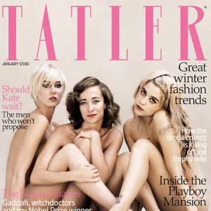 Ravissante couverture Tatler pour ces filles de rockeurs. Enfin si on oublie l'étrange cuisse de Kimberly Stewart et la disparition de celle de Leah Wood.