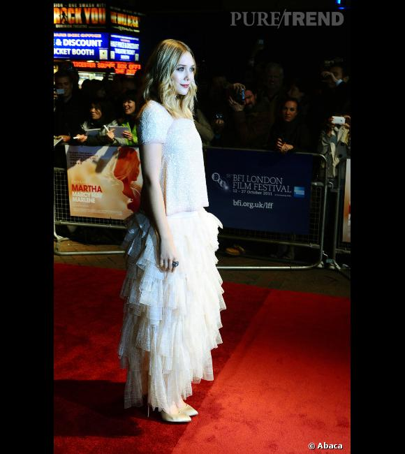 """Elizabeth Olsen à l'avant-première du film """"Martha Marcy May Marlene"""" à Londres."""