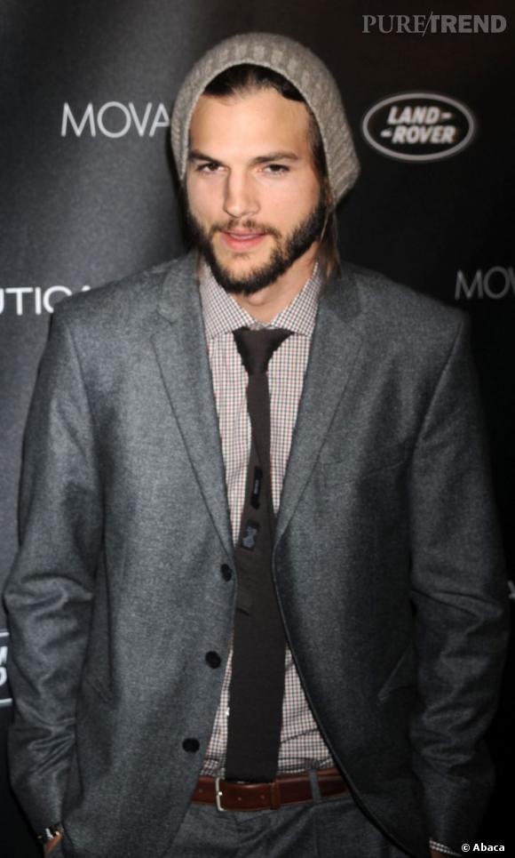 Ashton Kutcher à la soirée GQ à New York.