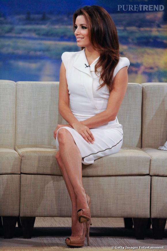 Eva Longoria à l'émission Good Morning America à New York.