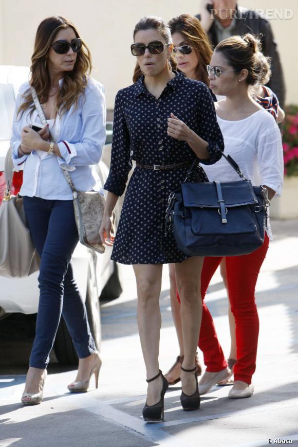 Eva Longoria dans les rues de West Hollywood.