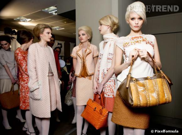 Les it-bags de l'hiver !  Photo : défilé Bottega Veneta automne-hiver 2011-2012.