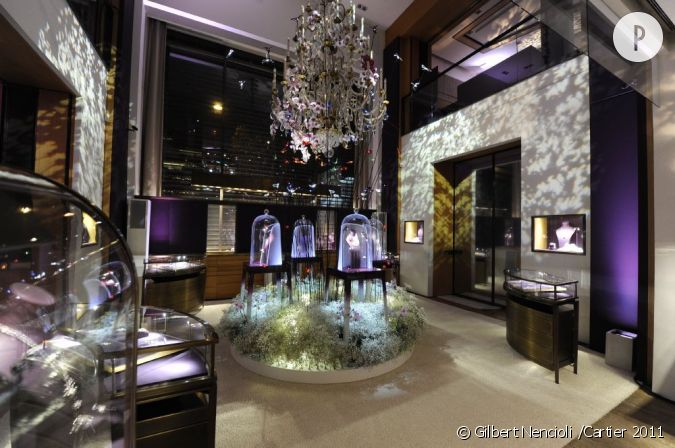 Int rieur de la boutique cartier for Bouton levre interieur