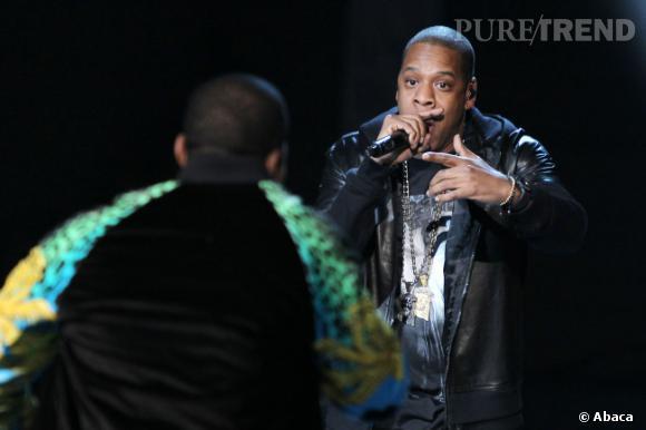 Jay-Z et Kanye West pendant le défilé Victoria's Secret.