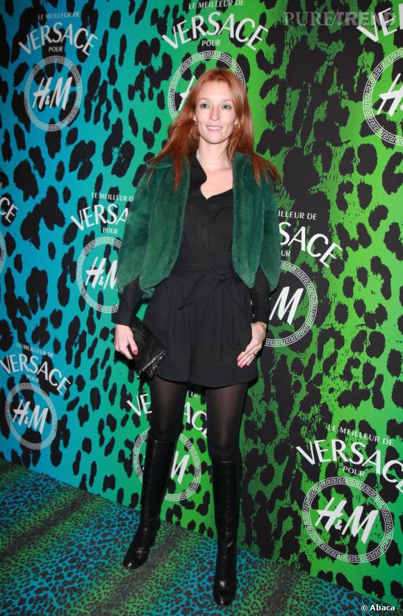 Audrey Marnay à la soirée de lancement de la collection Versace pour H&M à Paris.