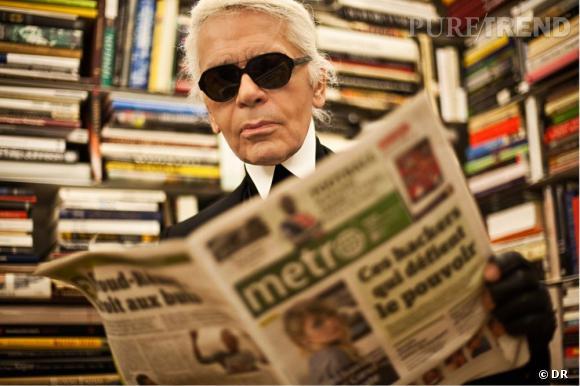 Karl Lagerfeld, rédacteur en chef invité de Metro International.