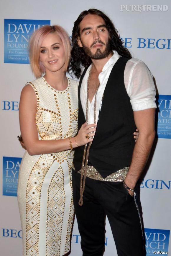 Katy Perry et son mari Russel Brand au gala de charité Change Begin Within.