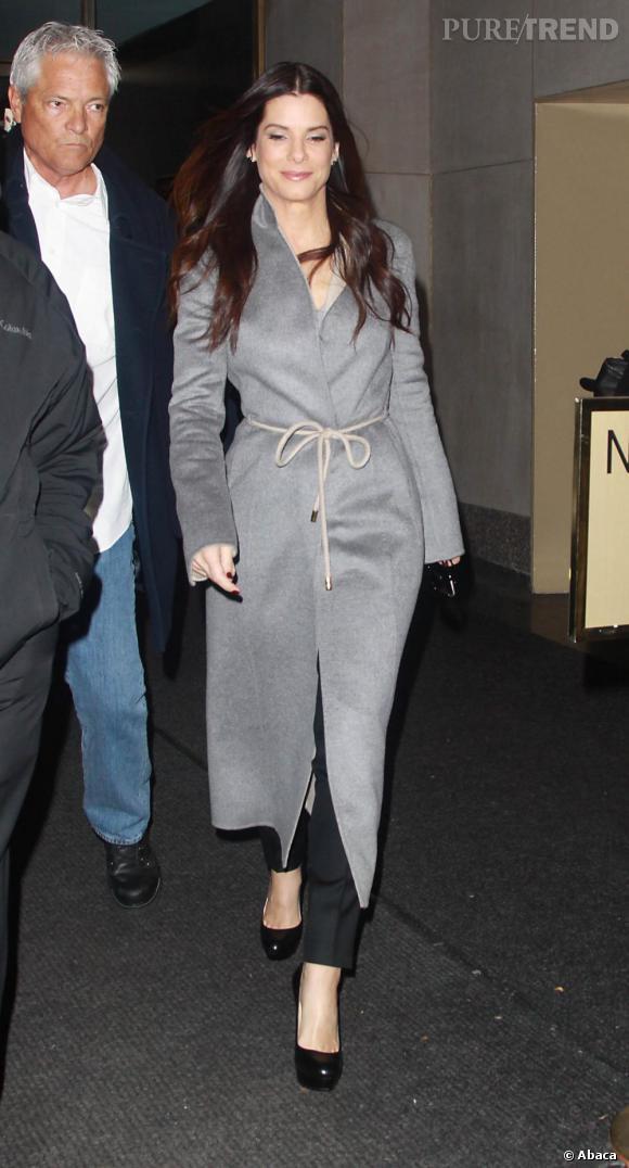 Sandra Bullock invitée au Today Show à New York.