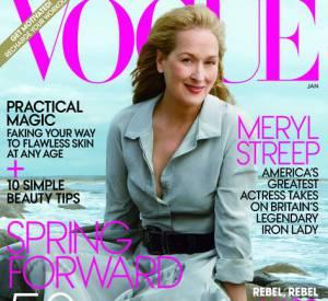 Meryl Streep a été choisie pour être en couverture du Vogue. A 62 ans, elle est la cover girl du magazine la plus âgée.