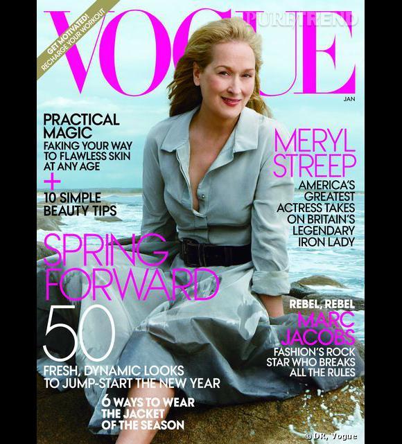 Meryl Streep a été choisie pour être en couverture du  Vogue . A 62 ans, elle est la cover girl du magazine la plus âgée.