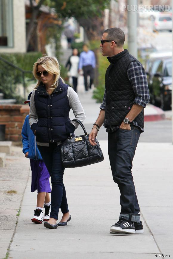 Reese Witherspoon à Los Angeles avec son mari Jim Toth.