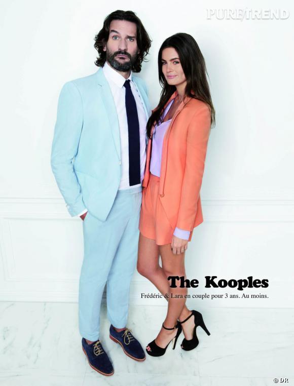 Campagne The Kooples, Printemps-Eté 2012. Frédéric Beigbeder et Lara.