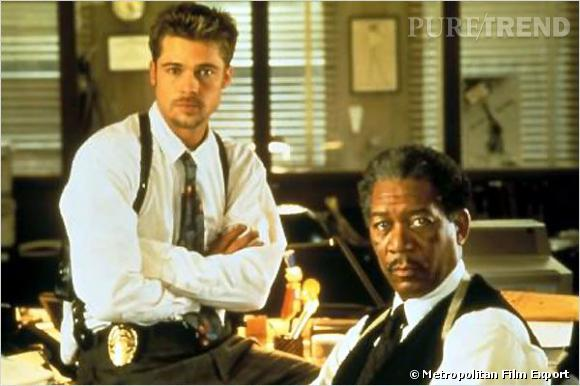 Dans Le Film Seven De David Fincher Brad Pitt Et Morgan Freeman