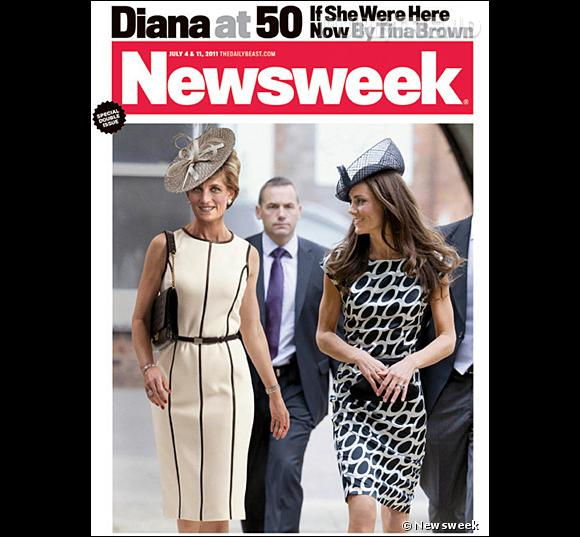 Pour Newsweek, Kate Middleton prend la pose avec une Lady Diana version 2011.
