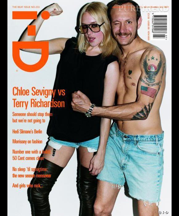 Pour I-D,  Terry Richardson passe devant l'objectif aux côtés de Chloë Sevigny déguisée en... Terry Richardson.