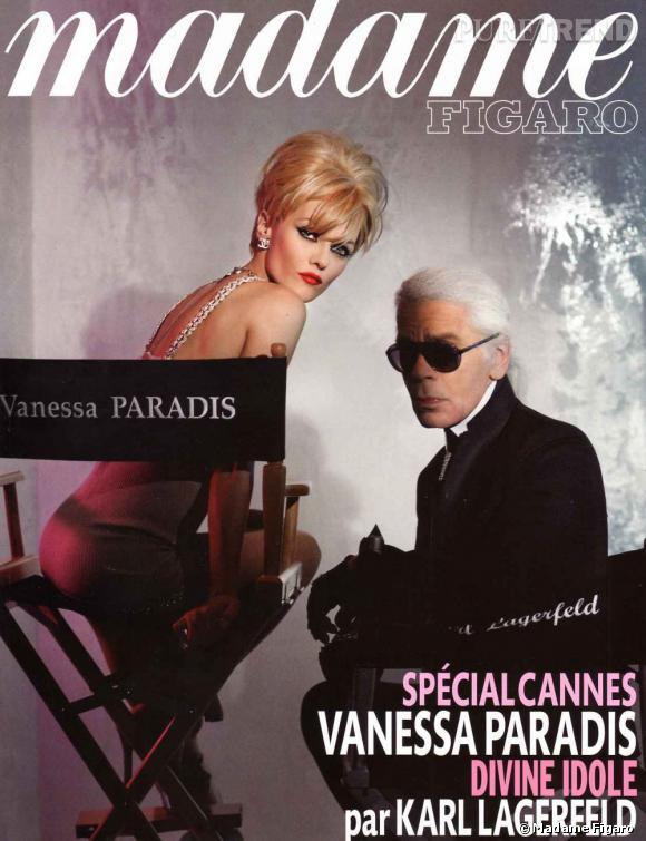 Shooting très Hollywood pour Karl Lagerfeld et sa muse Vanessa Paradis en couverture de Madame Figaro.