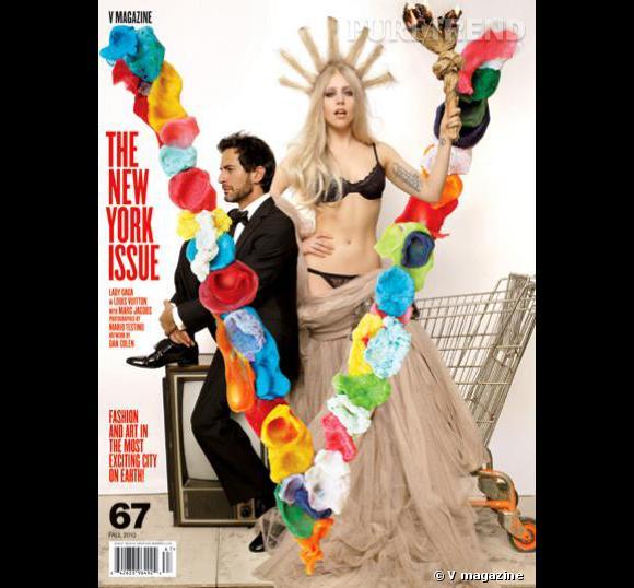Marc Jacobs prend d'assaut la statue de la liberté couture jouée par Lady Gaga pour V Magazine.