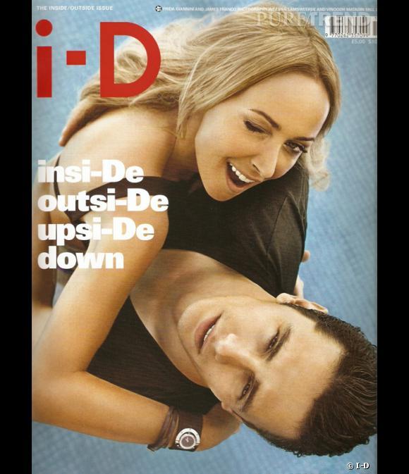 Egérie Gucci, James Franco prend la pose pour I-D avec Frida Giannini, la directrice artistique de la maison italienne.