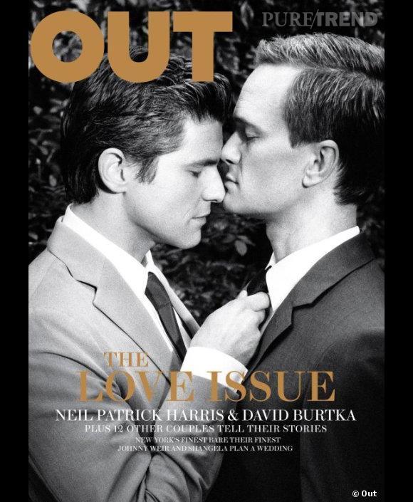 """Pour le numéro """"Love"""", Out frappe fort avec l'acteur Neil Patrick Harris et son compagnon David Burtka."""