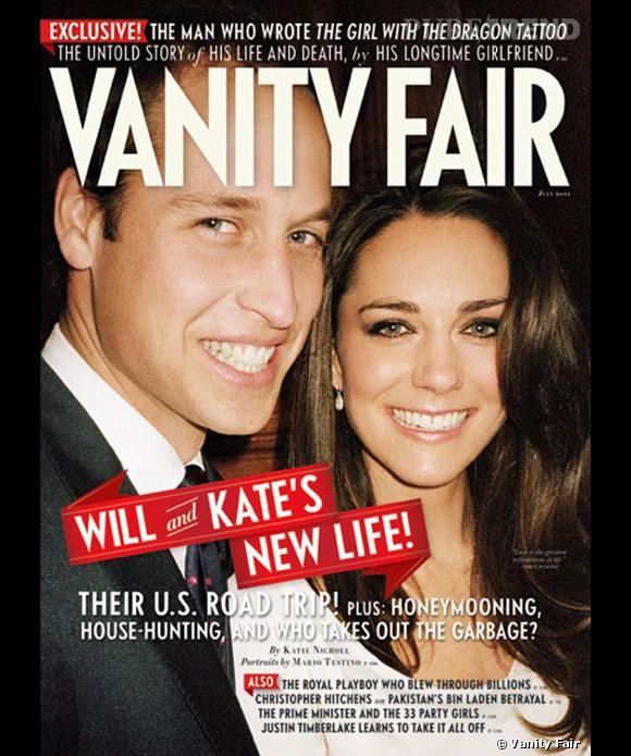 Pour leur premier voyage officiel, les jeunes mariés Kate Middleton et le Prince William s'offrent la couverture de Vanity Fair.