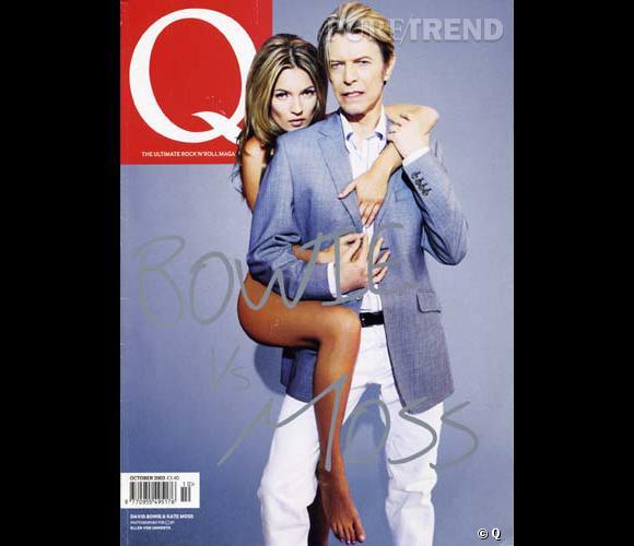 La plus rock'n'roll des tops et l'icône David Bowie font un bien beau duo pour Q magazine.
