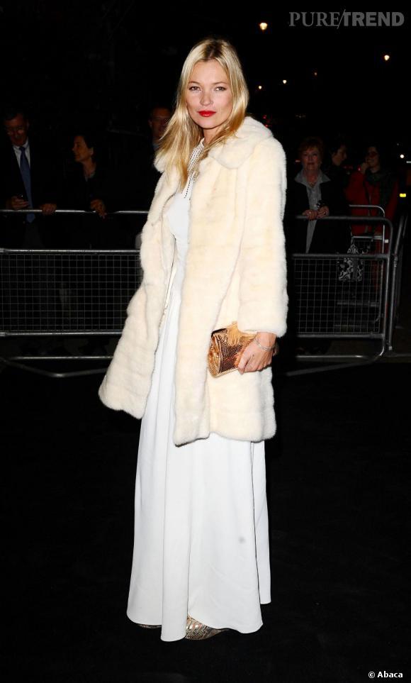 Kate Moss, une icône mode addict aux fourrures.