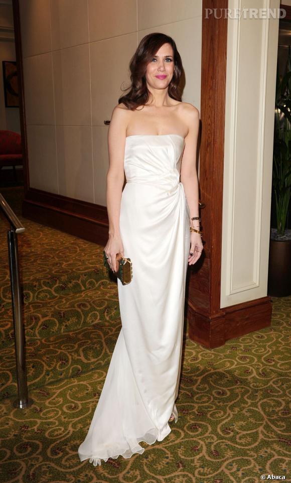 La discrète Kristen Wiig.