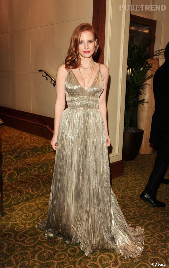 Jessica Chastain en Oscar de la Renta.