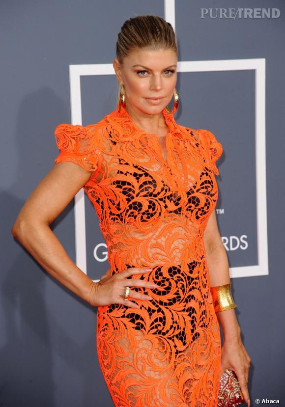 Fergie lors des Grammy Awards 2012 à Los Angeles.