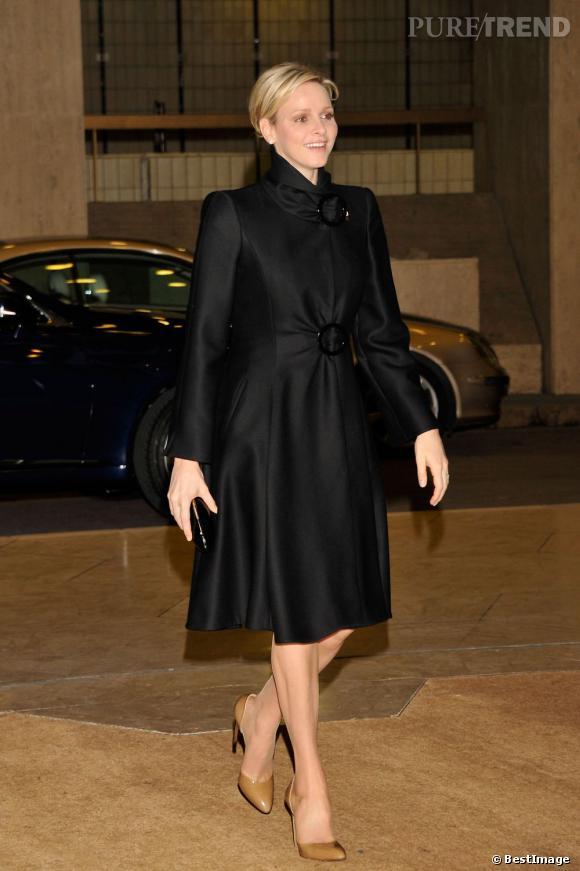 Charlene Wittstock à la cérémonie de la Croix Rouge à Monaco.