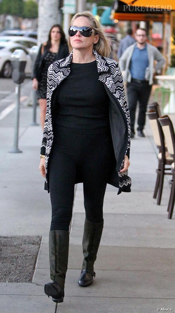 Sharon Stone, la femme masquée.