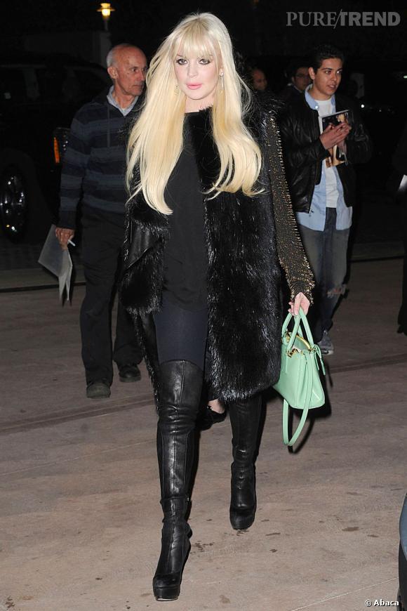 Lindsay Lohan était une fois de plus à deux doigts du sans-faute... Et puis elle a mis des cuissardes.