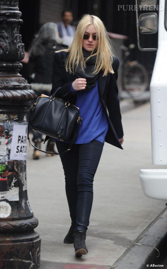 Dakota Fanning : un look parfait dans le quartier de Soho à New York.