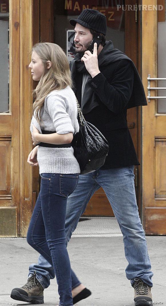Keanu Reeves et Hallie Meyer-Shyer, sa compagne pendant 2 ans de 2005 à 2007.