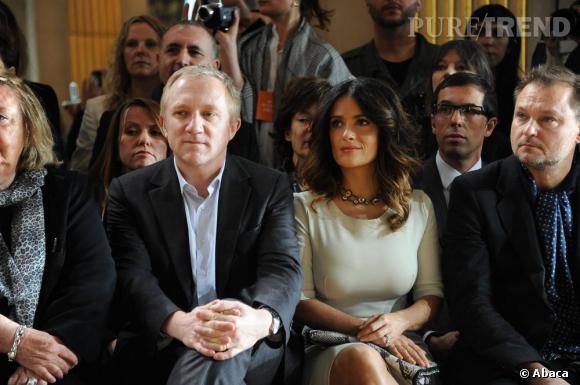 Salma Hayek et François-Henri Pinault chez Stella McCartney.