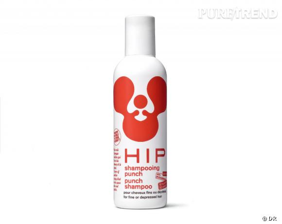 Ce printemps, on se met au vert grâce aux cosmétiques bio.     Shampooing Punch spécial cheveux fin ou fragilisés, Hip, 19 euros (200 ml)