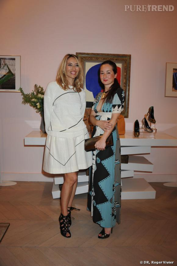 Alexandra Golovanoff et Harumi Klossowska.