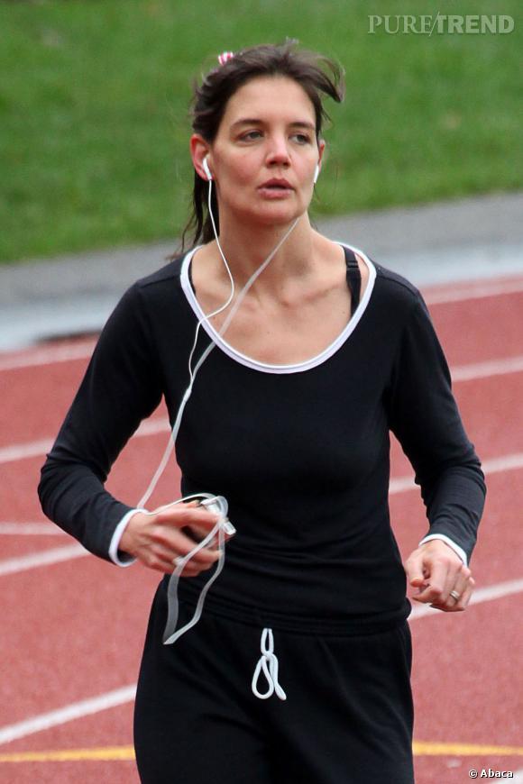 Katie Holmes n'aime pas vraiment le jogging...