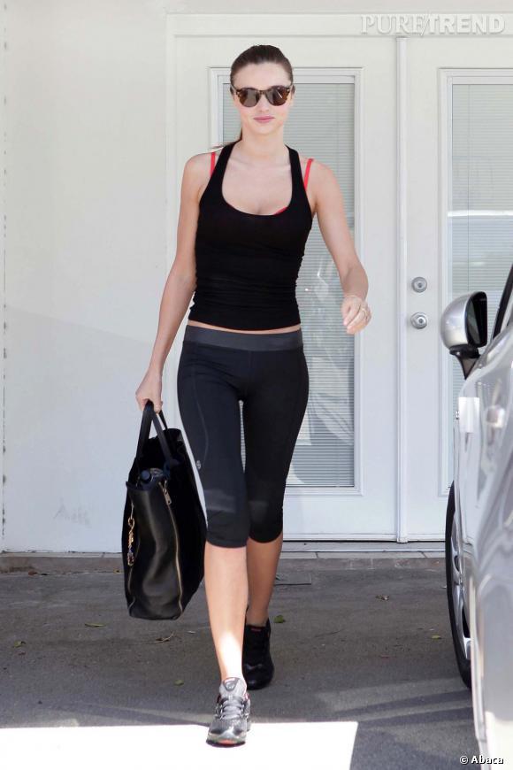 Miranda Kerr prête pour la gym à Los Angeles.