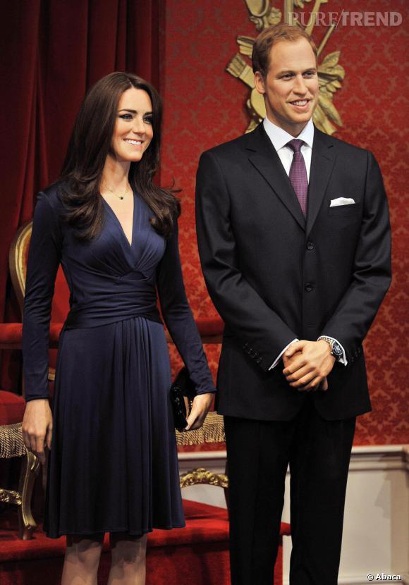 Kate Middleton et Prince William version statues de cire au musée Madame Tussauds à Londres.