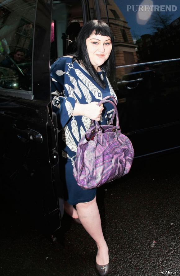 Beth Ditto dans les rues de Londres.