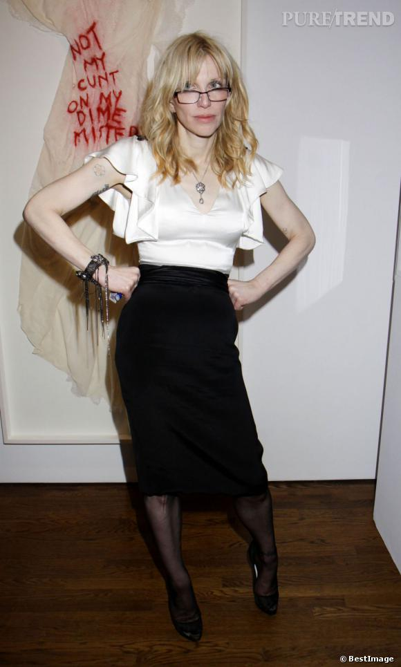 """Courtney Love dévoile son exposition """"Courtney Love and she's not even pretty"""" à New York."""