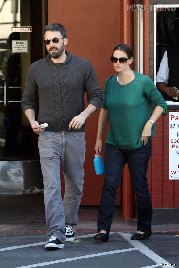 Jennifer Garner et Ben Afflech à Los Angeles.
