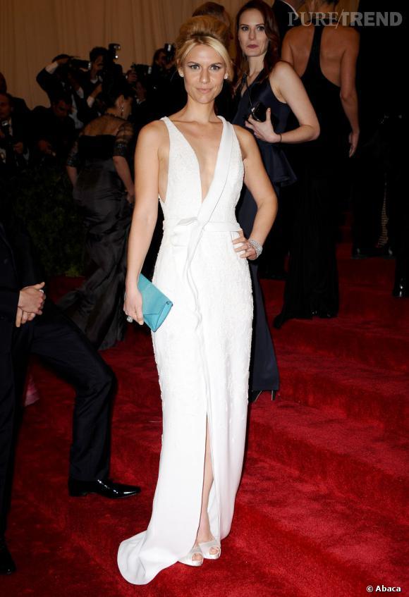 Claire Danes au Met Ball 2012.