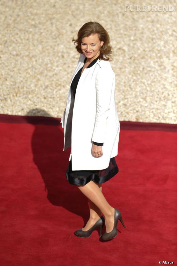 Valérie Trierweiler fait son entrée à l'Elysée.