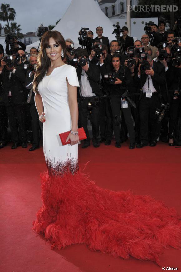 """Cheryl Cole le 20 mai à la première du film """"Amour"""" au Festival de Cannes."""