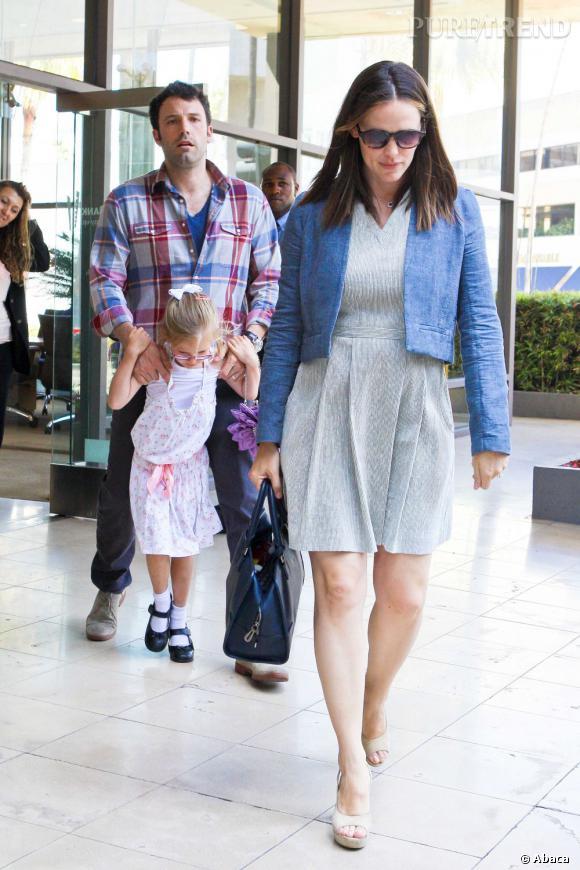 Jennifer Garner se met en robe pour aller faire quelques courses. Un bel effort, mais qui tombe à l'eau