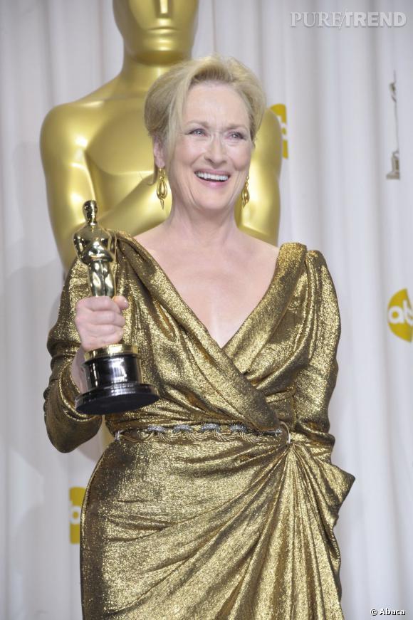 Un Oscar en or pour une actrice en or habillée d'or : le mix parfait !