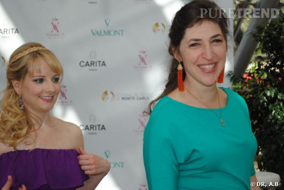 "Melissa Rauch et Mayim Bialik, mes copines de ""Big Bang Theory""."